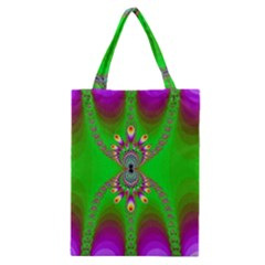 Green And Purple Fractal Classic Tote Bag