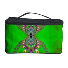 Green And Purple Fractal Cosmetic Storage Case