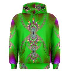Green And Purple Fractal Men s Pullover Hoodie