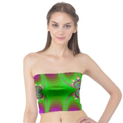Green And Purple Fractal Tube Top