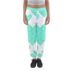 Green Heart Pattern Women s Jogger Sweatpants