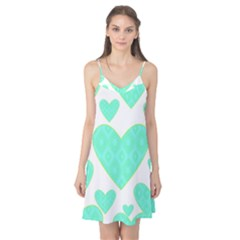 Green Heart Pattern Camis Nightgown