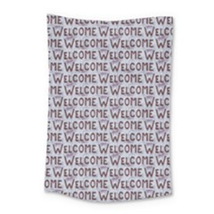 Welcome Letters Pattern Small Tapestry