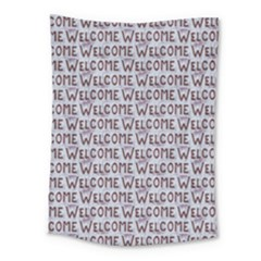 Welcome Letters Pattern Medium Tapestry