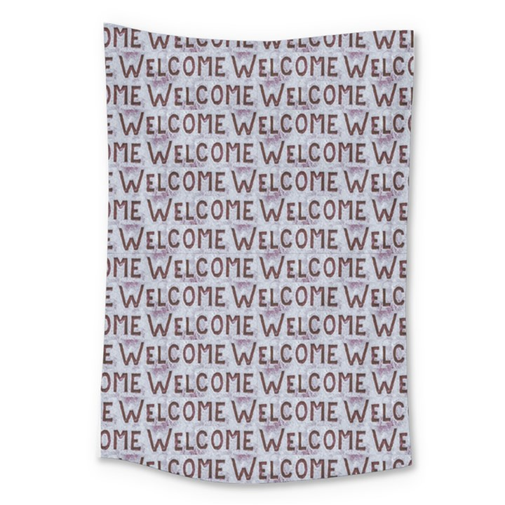 Welcome Letters Pattern Large Tapestry