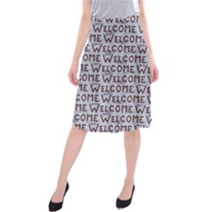 Welcome Letters Pattern Midi Beach Skirt
