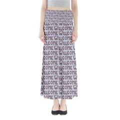 Welcome Letters Pattern Maxi Skirts