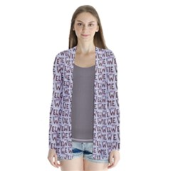 Welcome Letters Pattern Cardigans