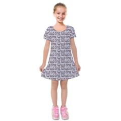 Welcome Letters Pattern Kids  Short Sleeve Velvet Dress