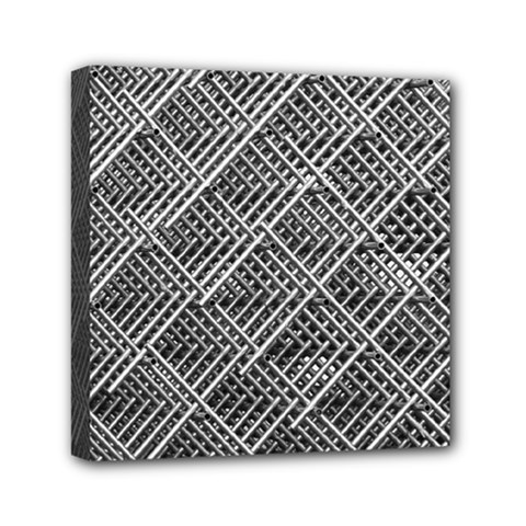 Grid Wire Mesh Stainless Rods Rods Raster Mini Canvas 6  X 6