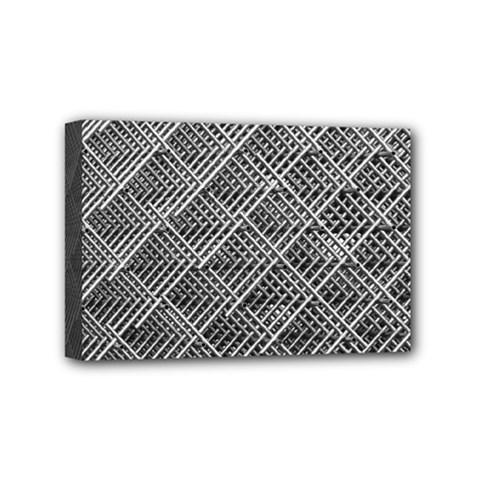 Grid Wire Mesh Stainless Rods Rods Raster Mini Canvas 6  X 4