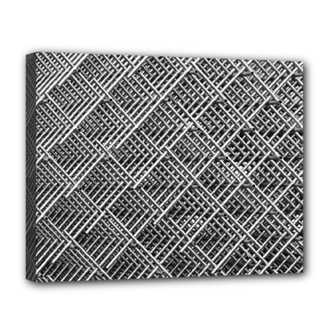 Grid Wire Mesh Stainless Rods Rods Raster Canvas 14  X 11