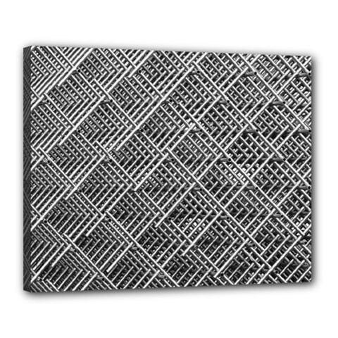 Grid Wire Mesh Stainless Rods Rods Raster Canvas 20  X 16
