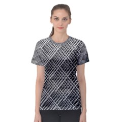 Grid Wire Mesh Stainless Rods Rods Raster Women s Sport Mesh Tee