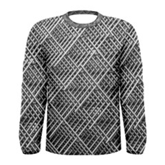 Grid Wire Mesh Stainless Rods Rods Raster Men s Long Sleeve Tee