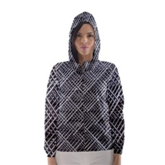 Grid Wire Mesh Stainless Rods Rods Raster Hooded Wind Breaker (women)