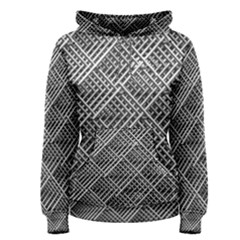 Grid Wire Mesh Stainless Rods Rods Raster Women s Pullover Hoodie