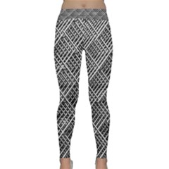 Grid Wire Mesh Stainless Rods Rods Raster Classic Yoga Leggings