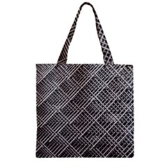 Grid Wire Mesh Stainless Rods Rods Raster Zipper Grocery Tote Bag