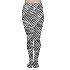 Grid Wire Mesh Stainless Rods Rods Raster Women s Tights