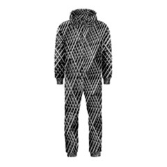 Grid Wire Mesh Stainless Rods Rods Raster Hooded Jumpsuit (kids)
