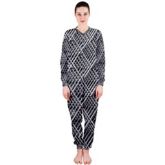 Grid Wire Mesh Stainless Rods Rods Raster Onepiece Jumpsuit (ladies)