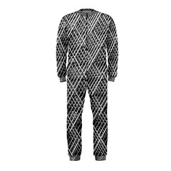 Grid Wire Mesh Stainless Rods Rods Raster Onepiece Jumpsuit (kids)