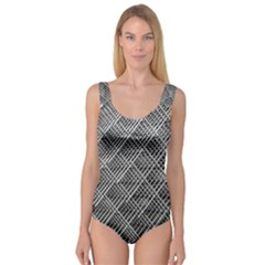 Grid Wire Mesh Stainless Rods Rods Raster Princess Tank Leotard