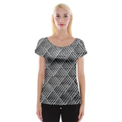 Grid Wire Mesh Stainless Rods Rods Raster Women s Cap Sleeve Top