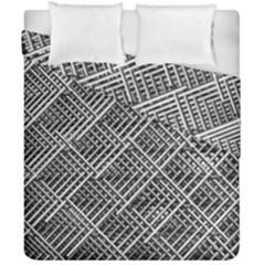 Grid Wire Mesh Stainless Rods Rods Raster Duvet Cover Double Side (california King Size)