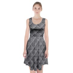Grid Wire Mesh Stainless Rods Rods Raster Racerback Midi Dress