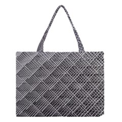Grid Wire Mesh Stainless Rods Rods Raster Medium Tote Bag