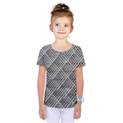 Grid Wire Mesh Stainless Rods Rods Raster Kids  One Piece Tee