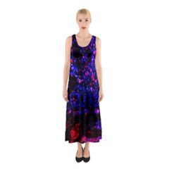 Grunge Abstract Sleeveless Maxi Dress