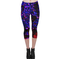 Grunge Abstract Capri Leggings
