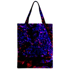 Grunge Abstract Zipper Classic Tote Bag