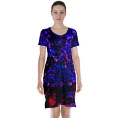 Grunge Abstract Short Sleeve Nightdress