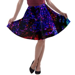 Grunge Abstract A-line Skater Skirt
