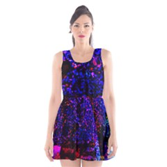 Grunge Abstract Scoop Neck Skater Dress
