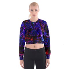 Grunge Abstract Women s Cropped Sweatshirt