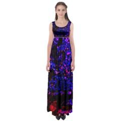 Grunge Abstract Empire Waist Maxi Dress