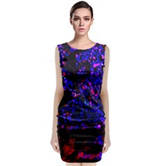Grunge Abstract Classic Sleeveless Midi Dress