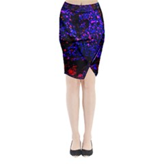 Grunge Abstract Midi Wrap Pencil Skirt