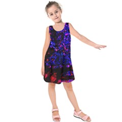 Grunge Abstract Kids  Sleeveless Dress
