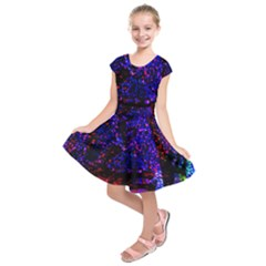Grunge Abstract Kids  Short Sleeve Dress