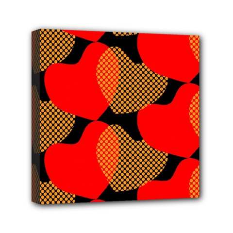 Heart Pattern Mini Canvas 6  X 6