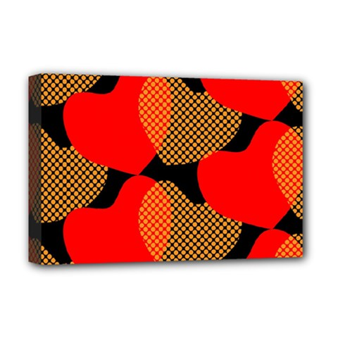Heart Pattern Deluxe Canvas 18  X 12