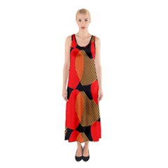 Heart Pattern Sleeveless Maxi Dress