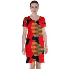 Heart Pattern Short Sleeve Nightdress