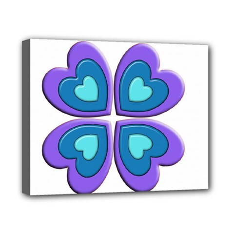 Light Blue Heart Images Canvas 10  x 8